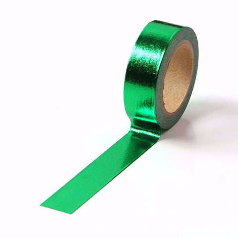 Washi Tape, Dark Green Foil