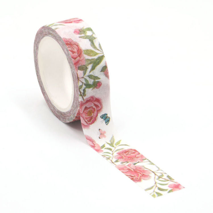 Floral Washi Tape - Peony Blossoms