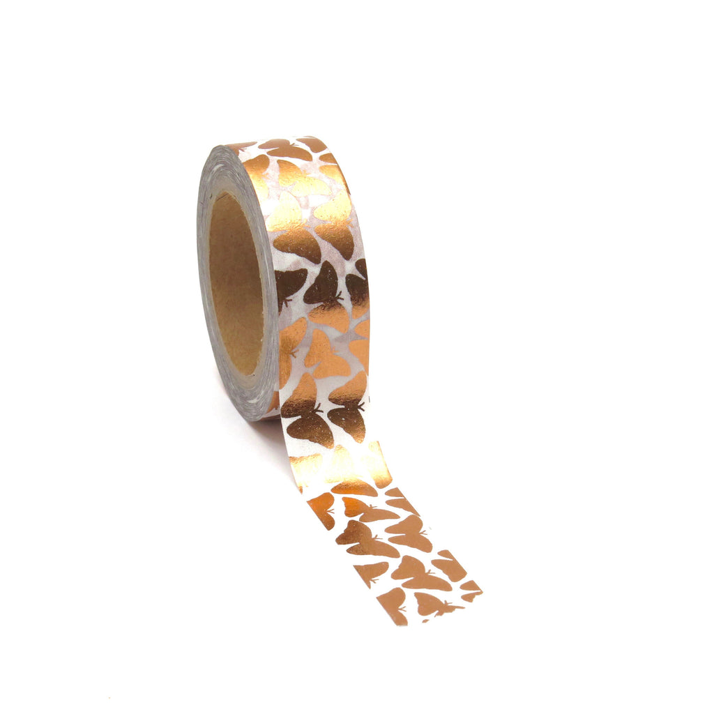 Washi Tape, Butterflies, Rose Gold Foil