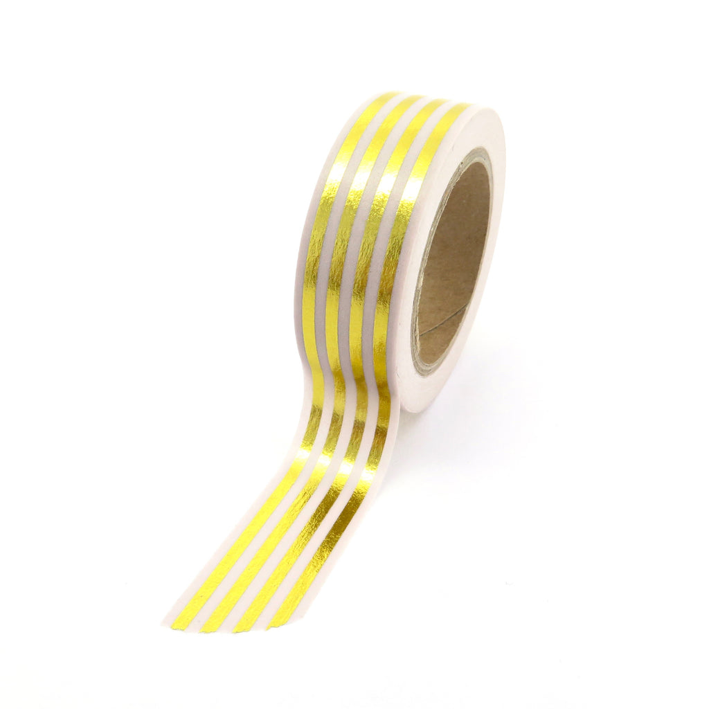 striped gold washi tape metallic foil