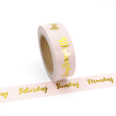 Planner Washi Tape Weekdays