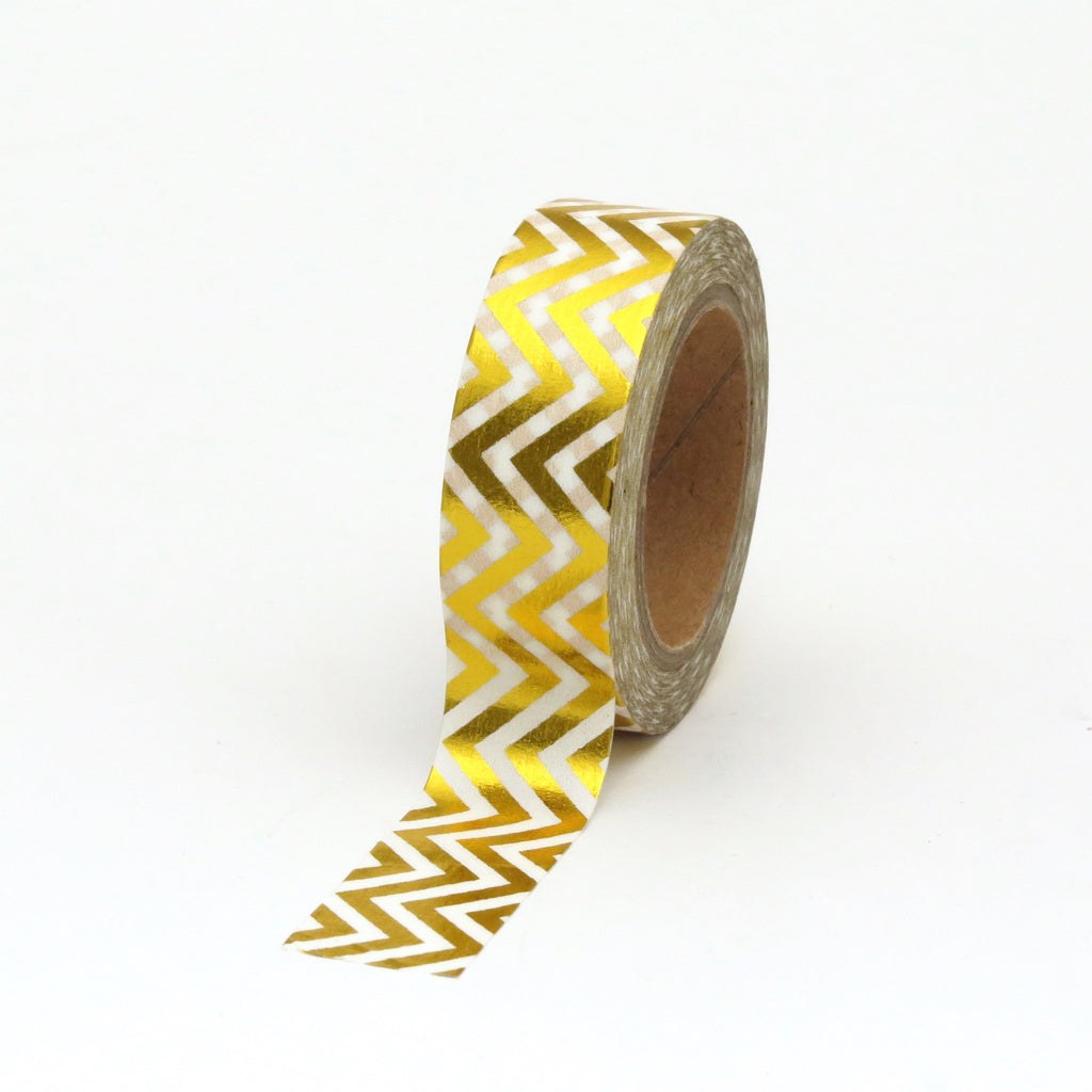 Washi Tape, Gold Foil, Chevron
