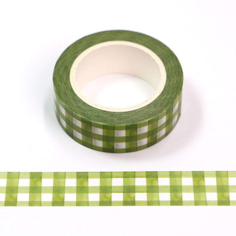 Washi Tape - Green Gingham