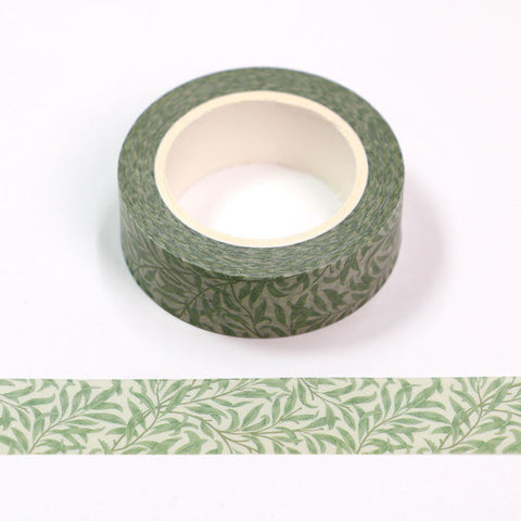 Washi Tape Green Leaves