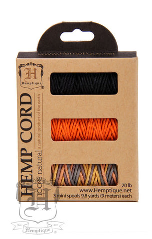 Boxed Hemp Cord Mini Spools #20 - Ginger