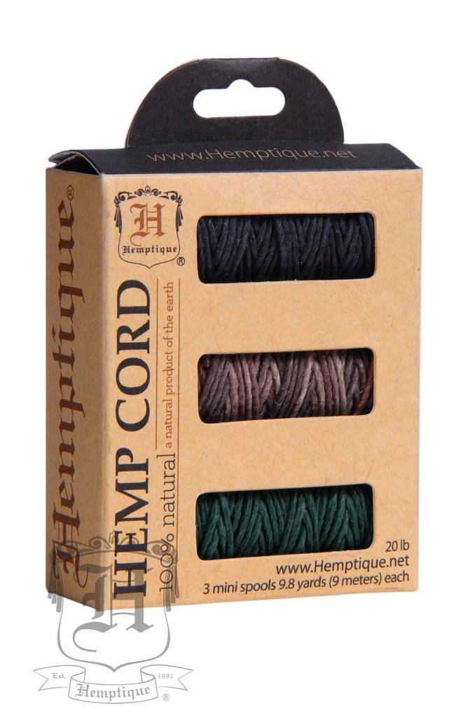 Boxed Hemp Cord Mini Spools #20 - Moonlight