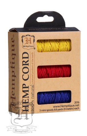 Boxed Hemp Cord Mini Spools #20 - Rio