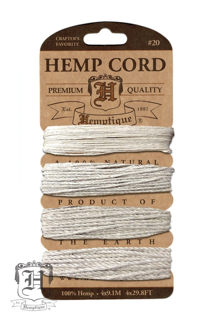 Hemp Cord Card - Multi Weight - Natural