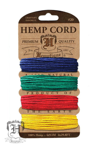 Hemp Cord Card #20 - Topaz