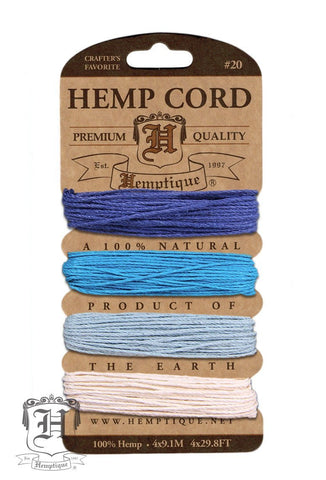 Hemp Cord Card #20 - Tide Pool