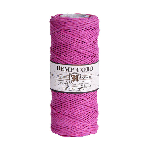 Hemptique Hemp Cord #20 - Bright Pink