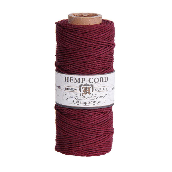 Hemptique Hemp Cord Burgundy #20