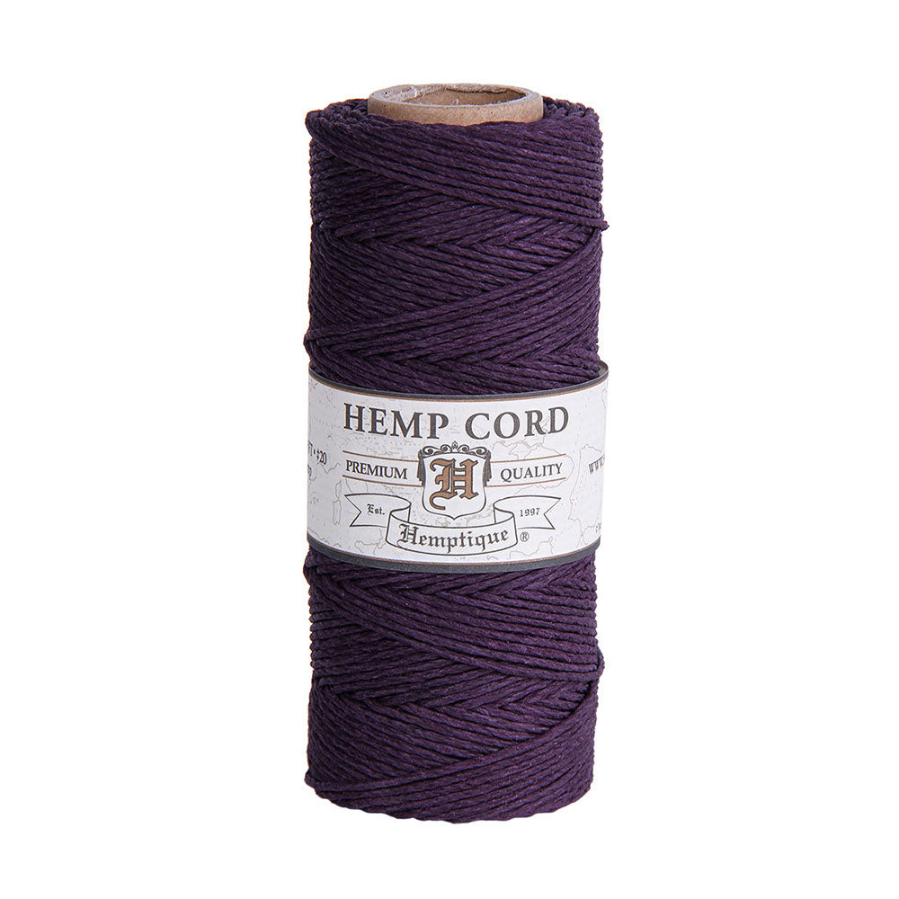 Hemptique Hemp Cord #20 - Plum