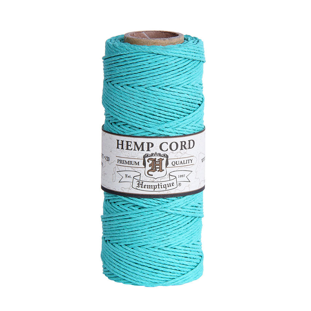 Hemptique Eco Hemp Cord #20 - Teal