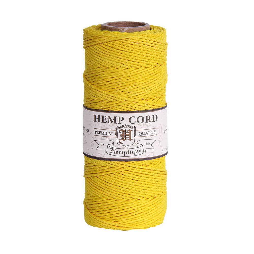 Hemp Cord Spool #20 - Bright Yellow