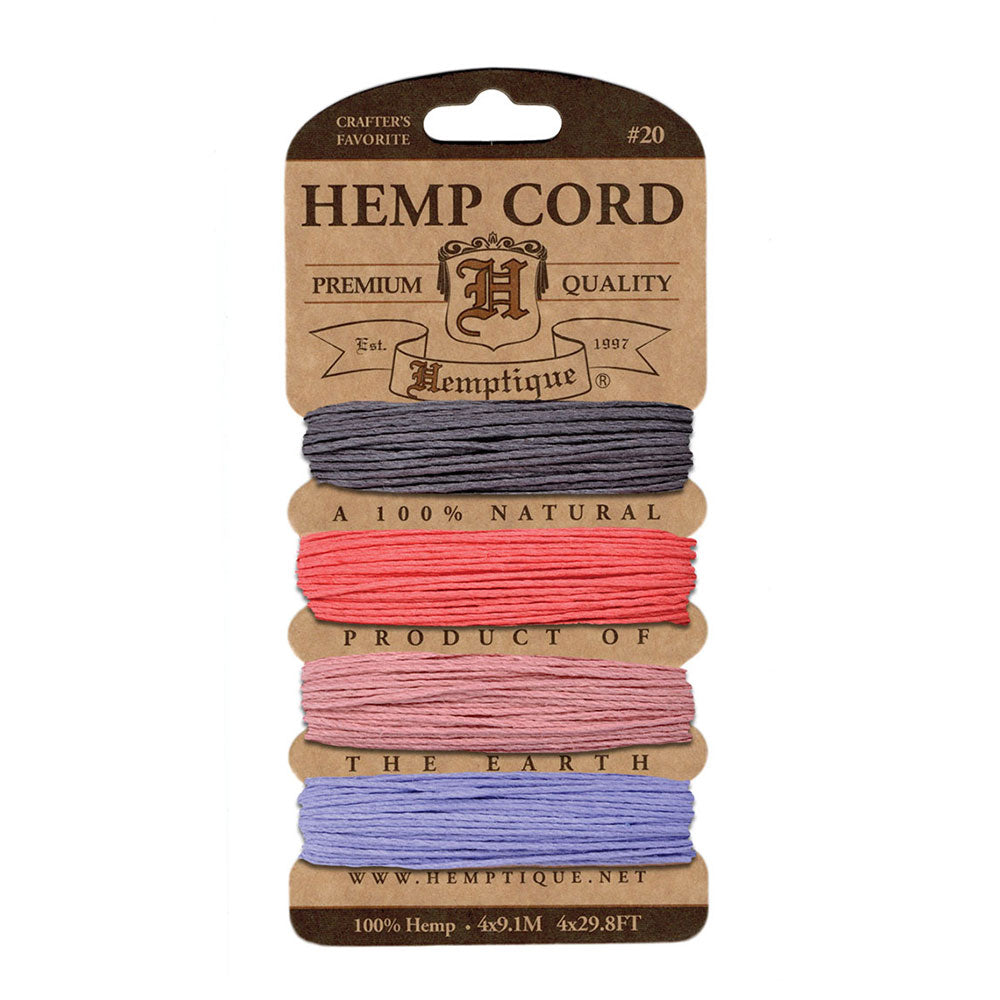 English Tea Hemp Cord Card by Hemptique