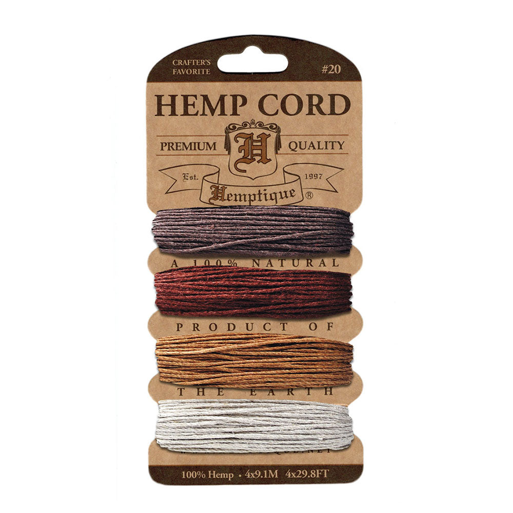 Hemptique Hemp Cord #20 - Shades of Bronze