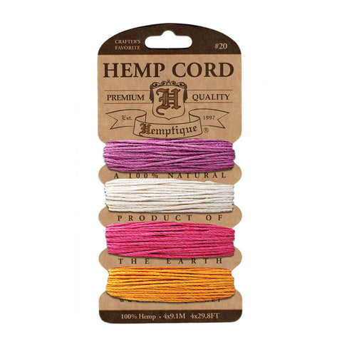 Hemptique Hemp Cord #20 Card - Spring Bloom