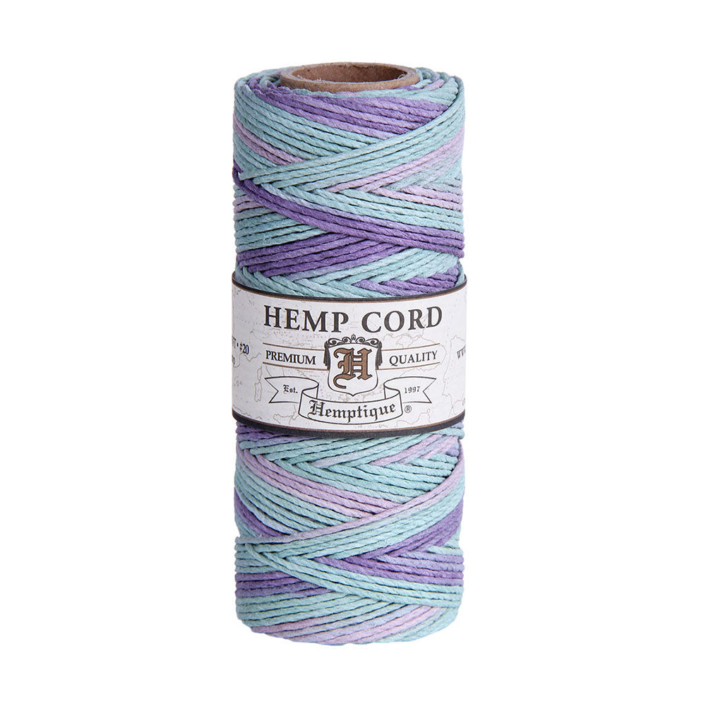 Hemptique Hemp Cord #20 Pastel