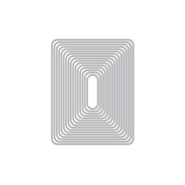 Infinity Dies Rounded Rectangle - DI465