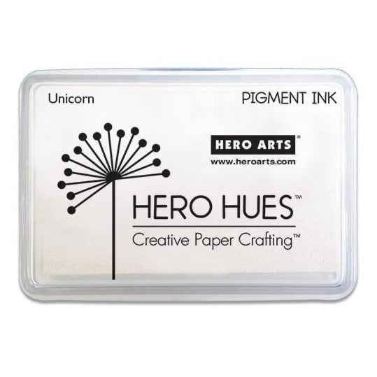 Hero Hues Pigment IInk Pad - Unicorn White
