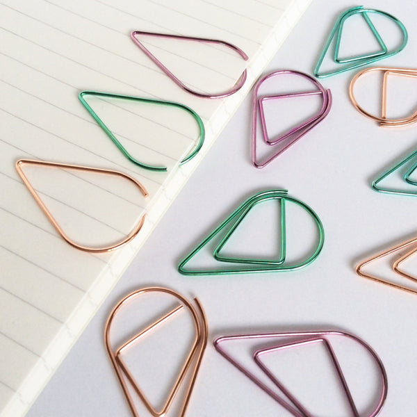 Tear Drop Planner Clips