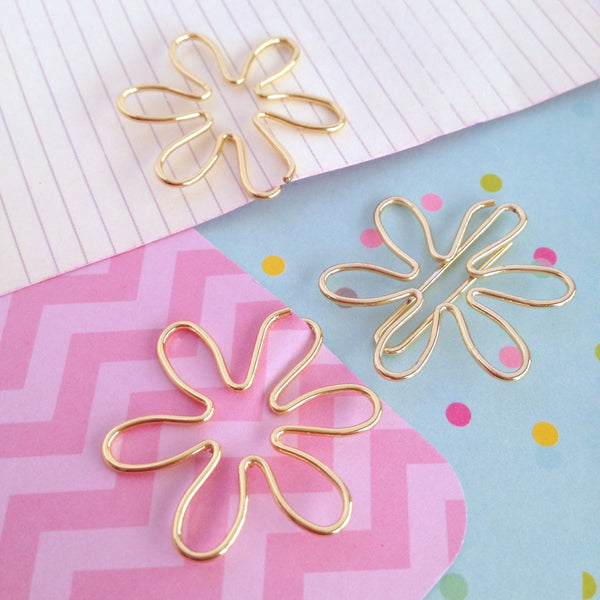 Flower Planner Clips in Gold