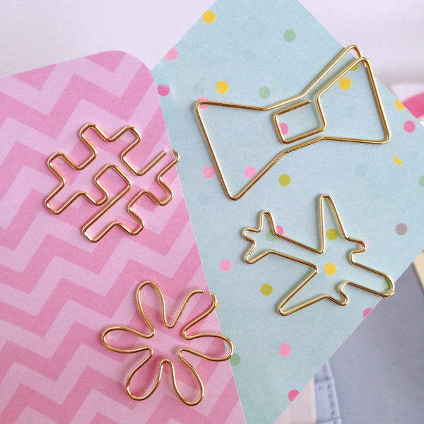 Gold Planner Paper Clips