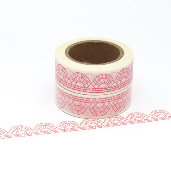 Washi Tape, Lace, Pink