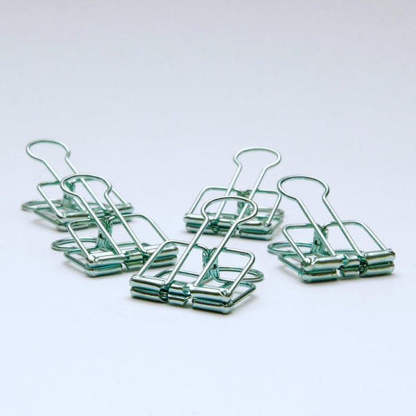 Green Bulldog Clips