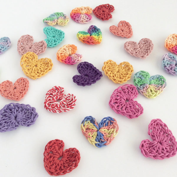 Crocheted Hearts with Hemptique Hemp Cord #20