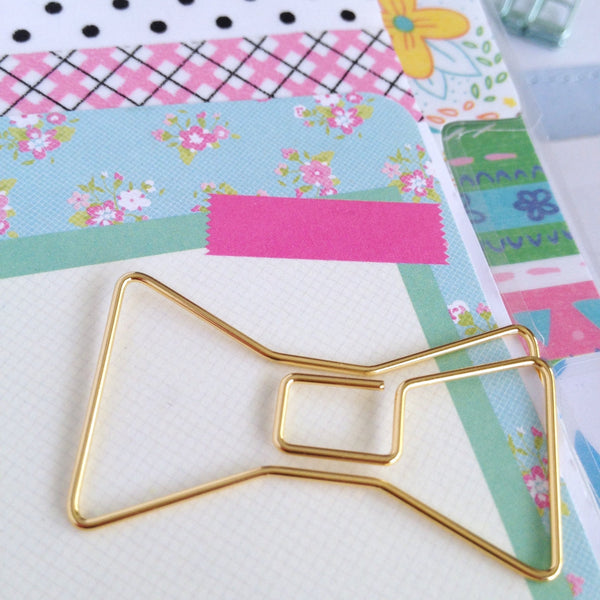 Gold Bow Tie Planner Clip