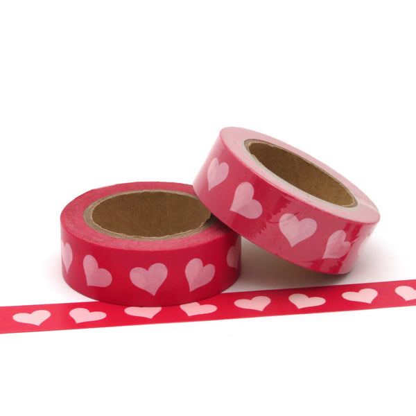 Washi Tape, Valentine Hearts, Red