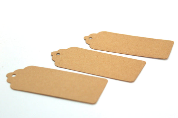 Craft Tags 20 Blank Gift Tags with a Scalloped Edge