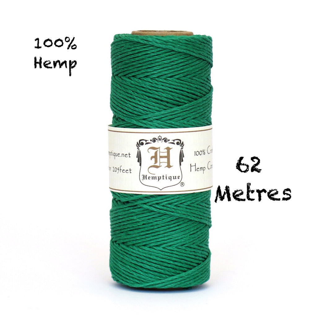 Hemptique Eco Friendly Hemp Cord - Green