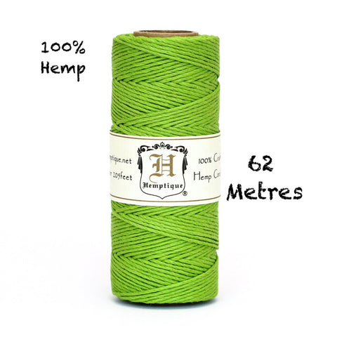 Hemptique Eco Friendly Hemp Cord - Lime Green