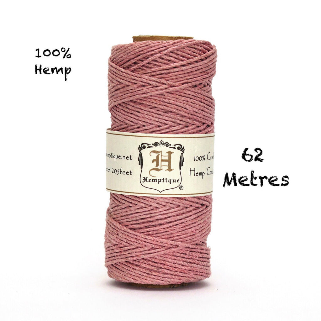 Dusty Pink Hemptique Craft Cord