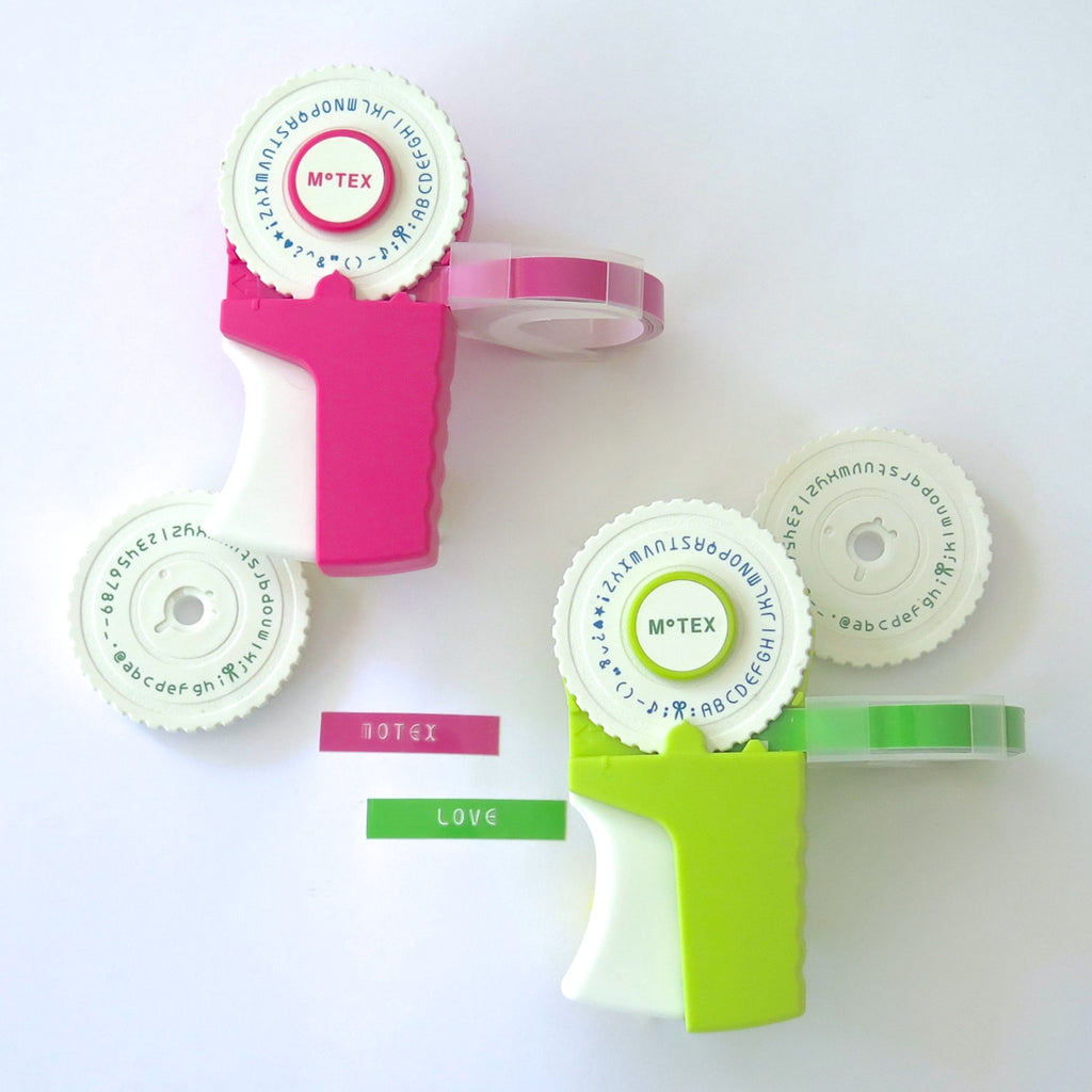 Motex Label Maker in Pink or Green