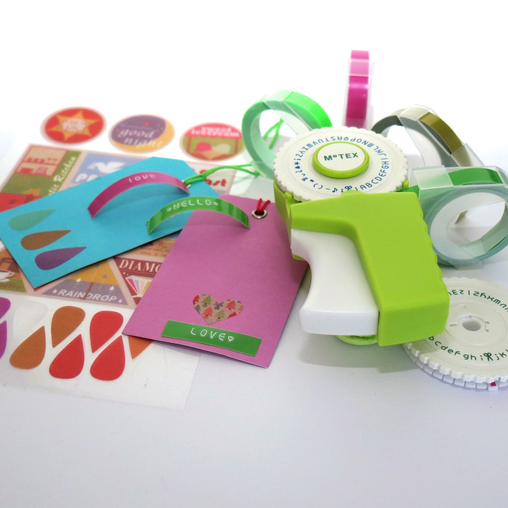 It is a graphic of Candid Motex Label Maker How to Use