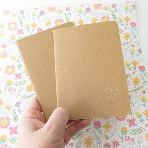Sketchbook Kraft Visual Diary Notebook 150gsm 24pages in A5 or A6
