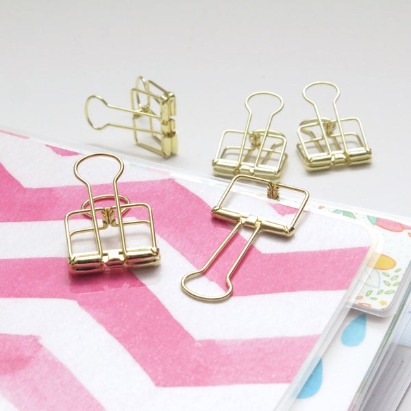 Gold Planner Clips