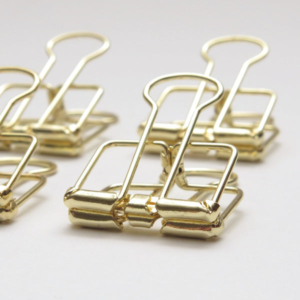 Gold Skeleton Clips