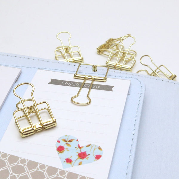 Gold Planner Bulldog Clips