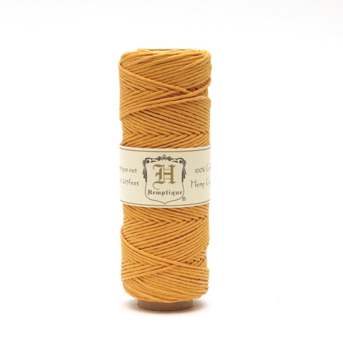 Hemptique Hemp Cord - Gold