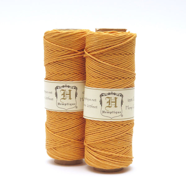 Gold Hemp Cord for jewellery making and craft