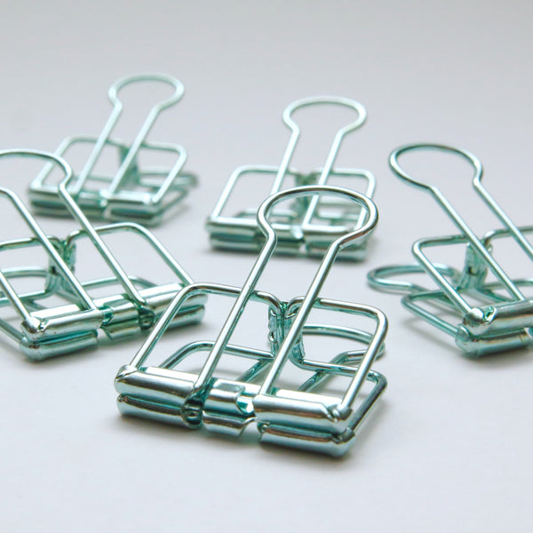 Green Foldback Clips for Planners