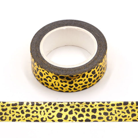 Washi Tape - Gold Leopard Print