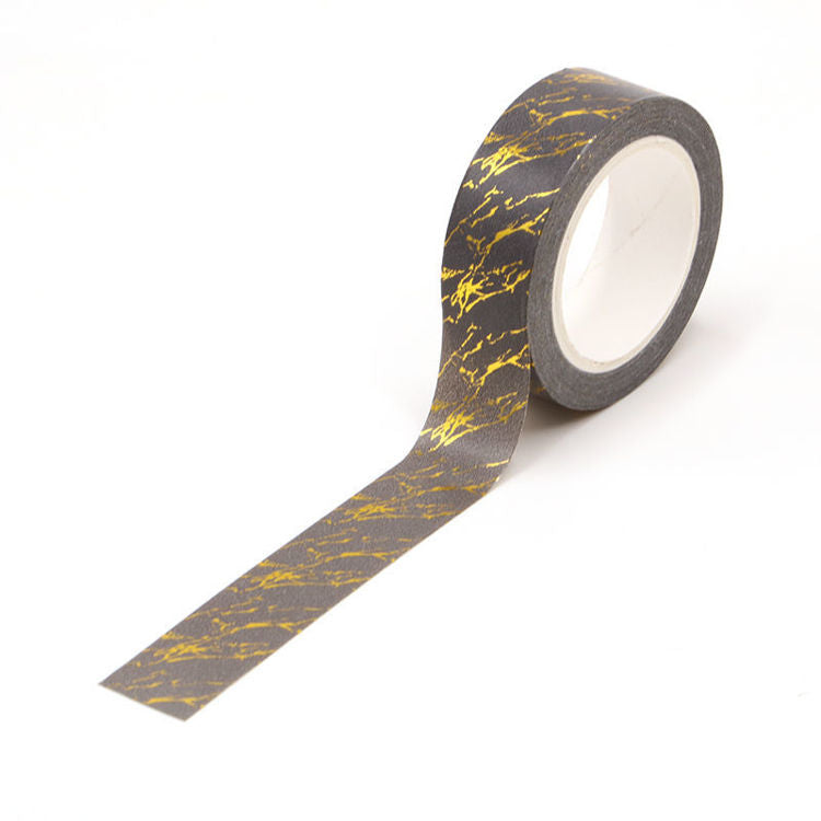 Washi Tape, Gold Foil Grey, Marble