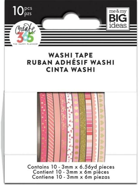 Washi Tape Happy Planner Set - Skinny - Pink Hues