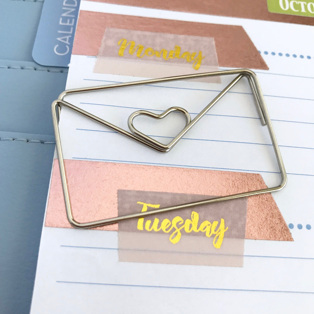 Planner Clips, Large Silver